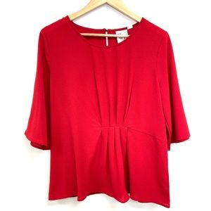 Janet Chung | Candy Apple Red Blouse NWT
